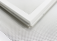 White Perforated Lay In Ceiling Tiles 2 x 2 , Metal Ceiling Tiles For Train station