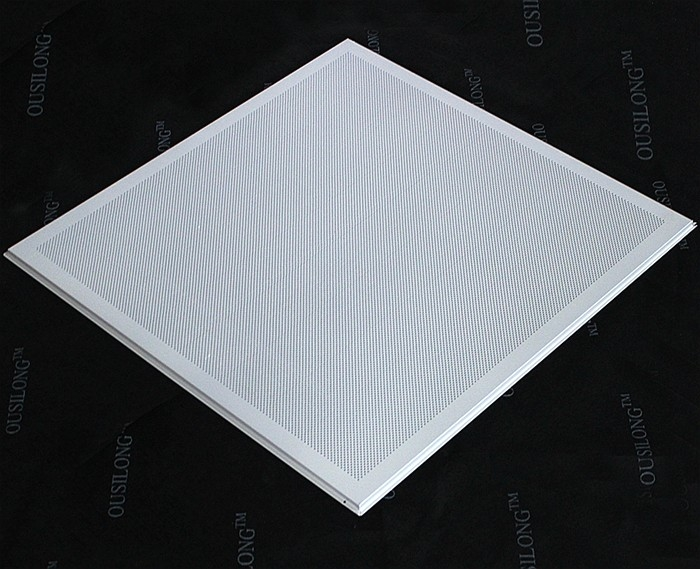 Open Frame Lay In Ceiling Tiles, Micro Perforated T Bar Suspended False Ceiling Panel 595x595mm