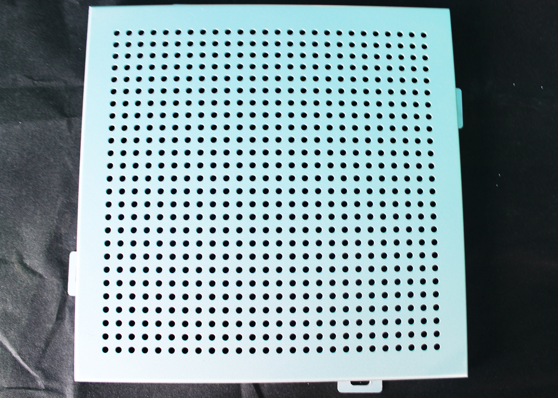 Noiseproof Acoustic Perforated Metal Ceiling Panels / Round Hole Punched Tiles 2 x 2