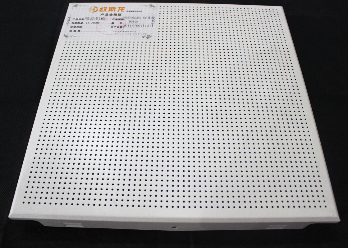 Clip in Decoration Perforated Metal Ceiling Tegular / Closed Floating kitchen ceiling tiles