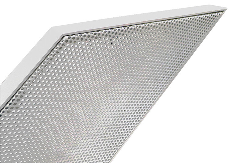 Perforated Metal Aluminum Curtain Wall Panel Prismatic Shape Exterior PVDF Powder Spraying